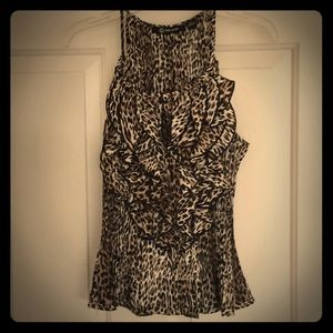 Milano leopard cheetah animal print tank top S